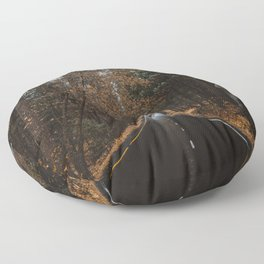 AUTUMN FOREST ROAD Floor Pillow
