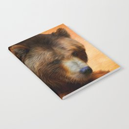 Grizzly Bear Painted Notebook