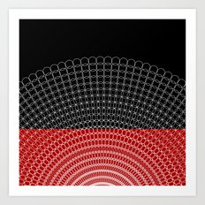 Geometric Rings Art Print