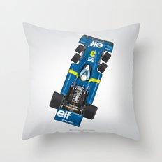 Outline Series N.º3, Jody Scheckter, Tyrrell-Ford 1976 Throw Pillow