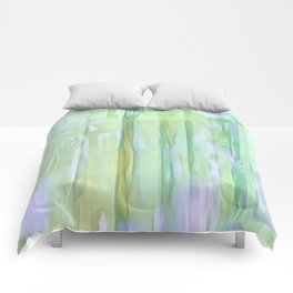 Cool Waves Of Color Abstract Comforters