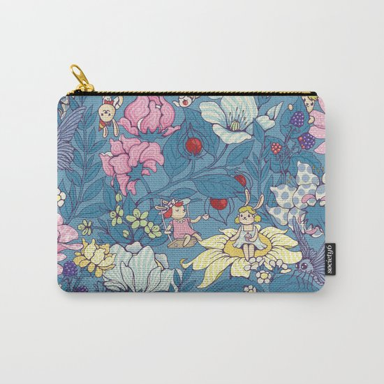 Garden party - lady gray version Carry-All Pouch