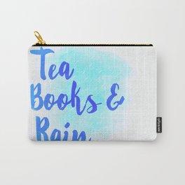 Tea, Books & Rain Carry-All Pouch