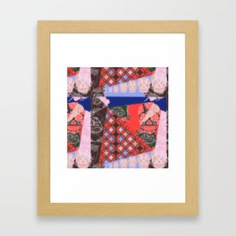 Girly_pattern_toxic_cute pattern Framed Art Print