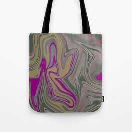 Distorted stripes in colour 2 Tote Bag