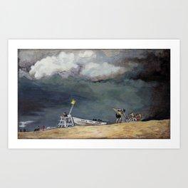 Stormy Sky Over Beach Art Print