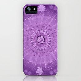"""Purple & Mallow Vault Mandala"" (Silver stars) iPhone Case"