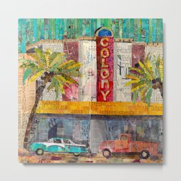 Retro Colony Theater Metal Print