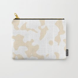 Large Spots - White and Champagne Orange Carry-All Pouch