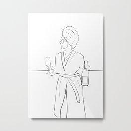 Morning Wine Metal Print
