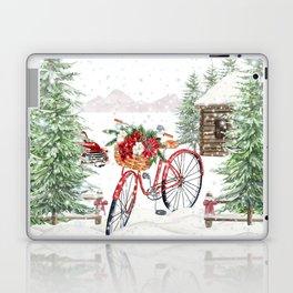 Winter Bicycle Laptop & iPad Skin