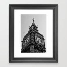 Big Ben | London . B/W Framed Art Print