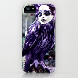 Purple Owl Nahuala iPhone Case