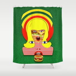 HAMBURGER Shower Curtain