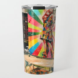 Street Art Mural, Times Square Kiss Recreation Travel Mug