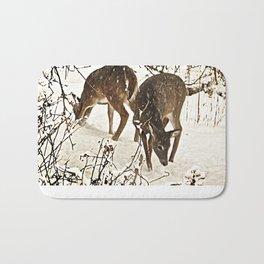 Deer in Snow Bath Mat