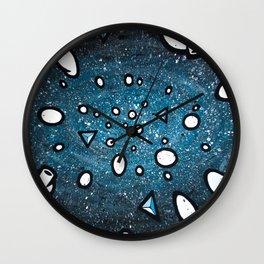 Asteroids Blue Galaxy Wall Clock