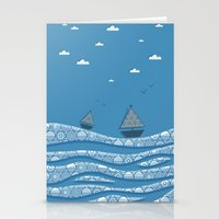 boats Stationery Cards featuring Boats by Matt Andrews