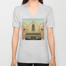 Gay American Gothic - LGBT Marriage Equality Unisex V-Neck