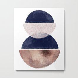 Semin Circle Geometric III Art Print Metal Print