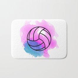 Volleyball Watercolor Bath Mat