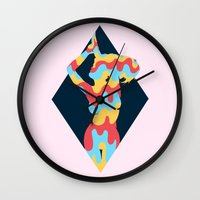 lucy Wall Clocks featuring Lucy by Popsicle Illusion