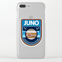 Juno's New Frontiers Logo Clear iPhone Case
