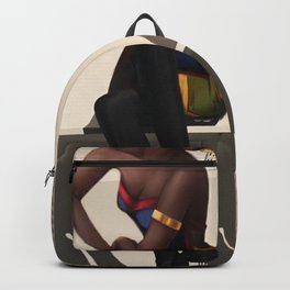 Sittin´ young black lady Backpack