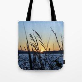 Sunset Sea Grass Tote Bag