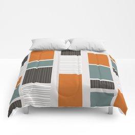 Mid Century Modern Panels Comforters