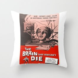 The Brain That Wouldn't Die Movie Poster Throw Pillow