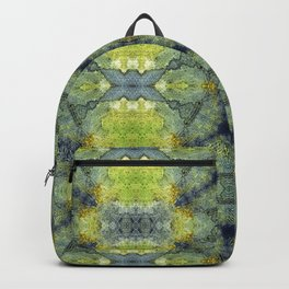 Simone in Blue and Green Backpack