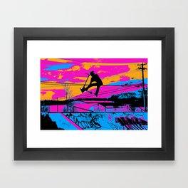Lets Fly!  - Stunt Scooter Framed Art Print