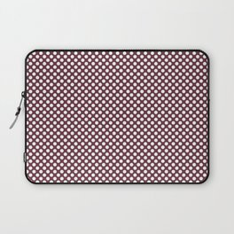 Tawny Port and White Polka Dots Laptop Sleeve