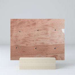 Plywood shipboard with nails and screws Mini Art Print