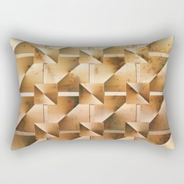 Rusty Geometry Gold Tones Rectangular Pillow