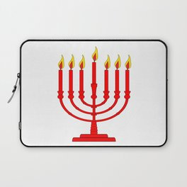 Menorh With Seven Burning Candles Laptop Sleeve