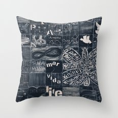 Urban art Throw Pillow