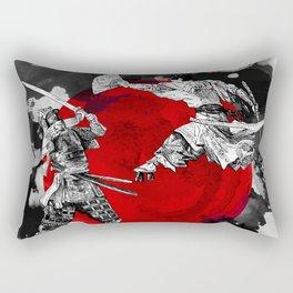 Samurai Fighting Rectangular Pillow