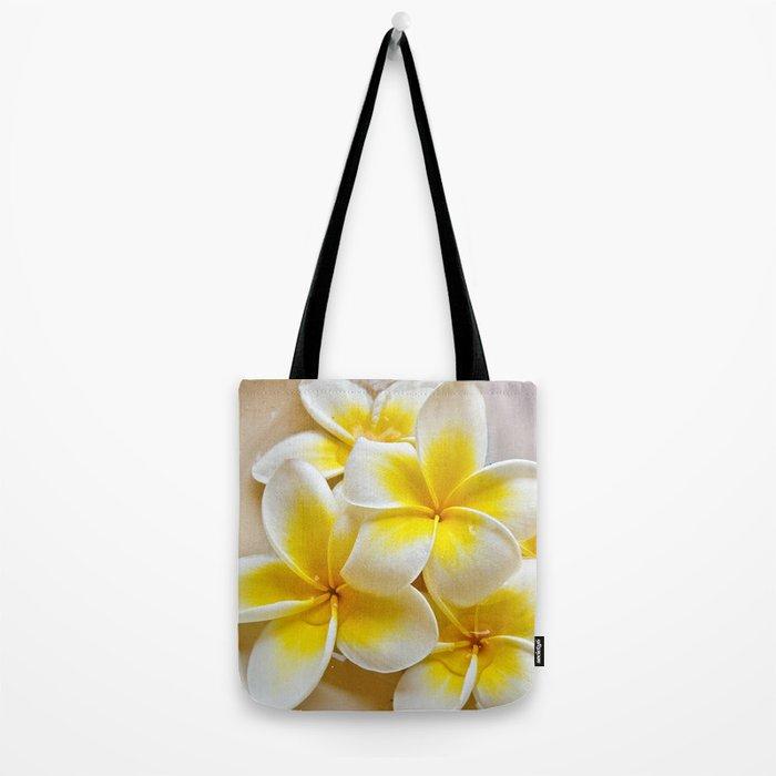 Plumeria Blossoms Tote Bag