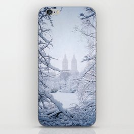 A view of the Eldorado through snow covered branches iPhone Skin
