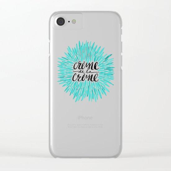 Crème de la Crème – Turquoise Clear iPhone Case
