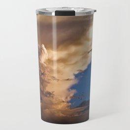 Clouds, Birds, Moon, Venus Travel Mug
