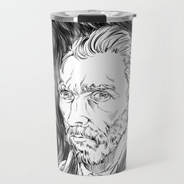 Van Gogh in black Travel Mug