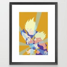 Dragonball Z - Father-Son KameHameHa Framed Art Print