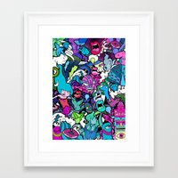 flash Framed Art Prints featuring Flash! by Vanessa Teodoro