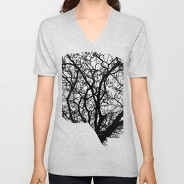 Brain Tree Unisex V-Neck
