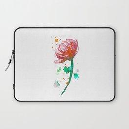 Warm Watercolour Fiordland Flower Laptop Sleeve