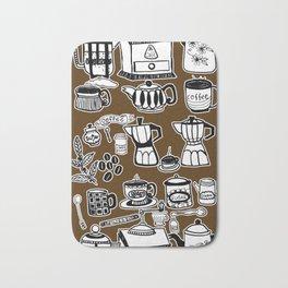 Coffee Doodles Bath Mat
