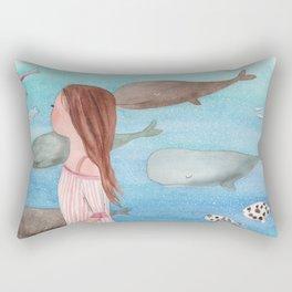 Sleeping whales Rectangular Pillow